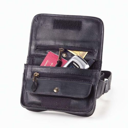 Clava Leather Fanny Pack for Travel Wallet