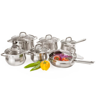 Alpine Cuisine 12-Piece Stainless Steel Cookware Set