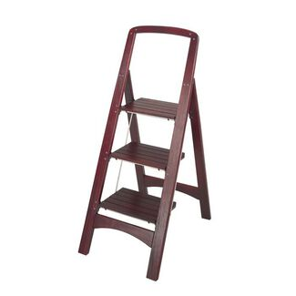 Cosco Rockford Series Mahogany Step Stool