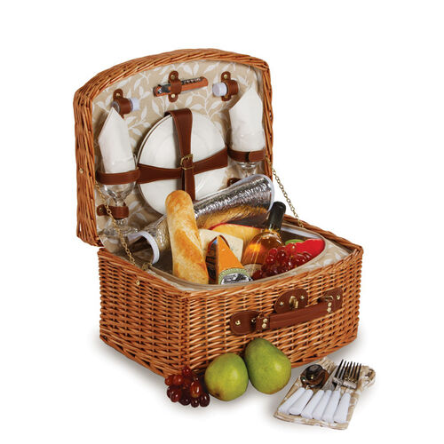 Picnic Plus Benton 2-Person Picnic Basket with Insulated Cooler