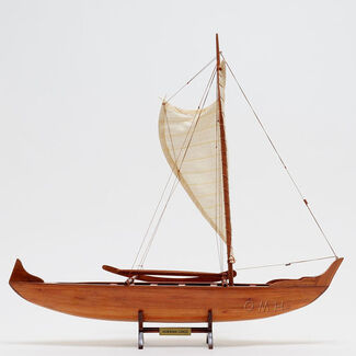 Hawaiian Canoe Wooden Boat Model