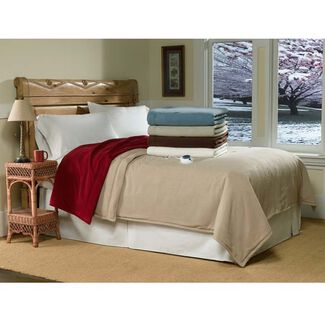 Serta Luxury Micro-Fleece Heated Blanket