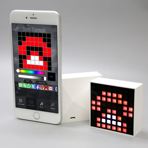 Dotti App Enabled Pixel Light Art With Smartphone