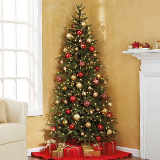 Pre-Lit Fraser Fir Corner Artificial Christmas Tree