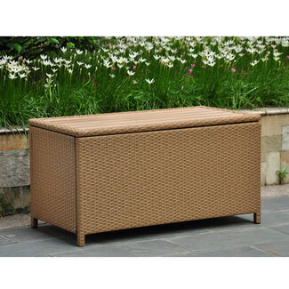 Barcelona Resin Wicker Storage Trunk