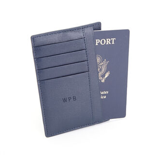 Personalized Royce RFID Blocking Slim Leather Travel Passport Wallet