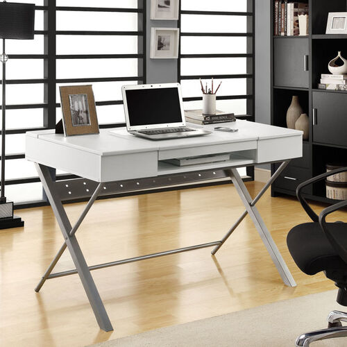 "Hollow-Core ""Connect-It"" 48"" L Tablet Desk - Cappuccino or White"