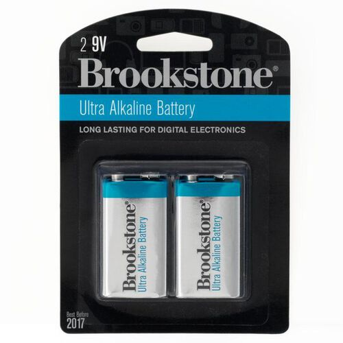 2-Pack 9V Ultra Alkaline Batteries