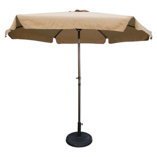 9' Outdoor Aluminum Umbrella with Flaps