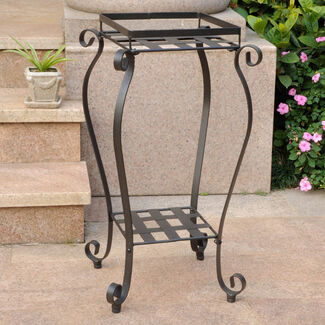 Mandalay Square Iron Plant Stand