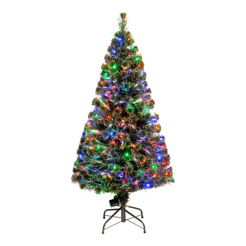 "60"" Fiber Optic "" Evergreen"" Tree with 150 Multi LED Lights"