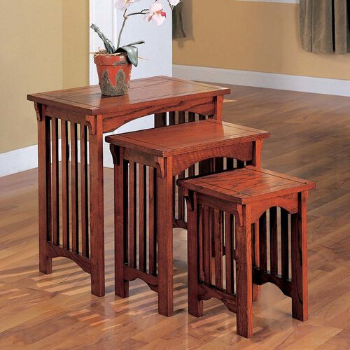 Mission Style 3-Piece Nesting Tables