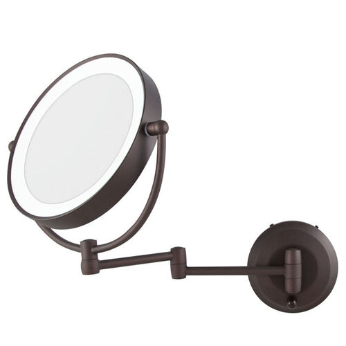 Led Lighted Cordless Round Double Sided Wall Mount Makeup