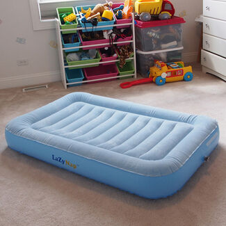 LazyNap Kid's Air Bed with Flock Top