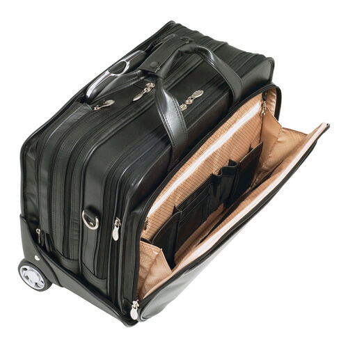 Roosevelt Leather Detachable-Wheeled Laptop Case