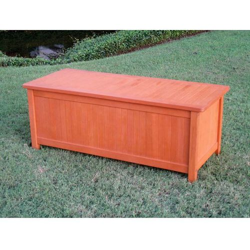 Royal Tahiti Outdoor Furniture: Patio Storage Trunk with Lid