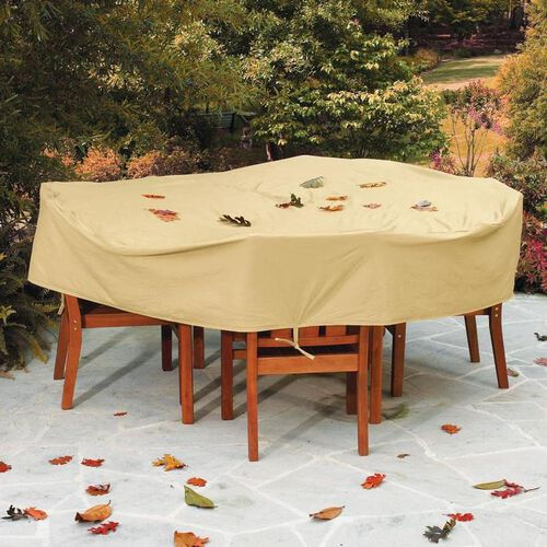Weather Wrap® Round Table & High Back Chairs Cover