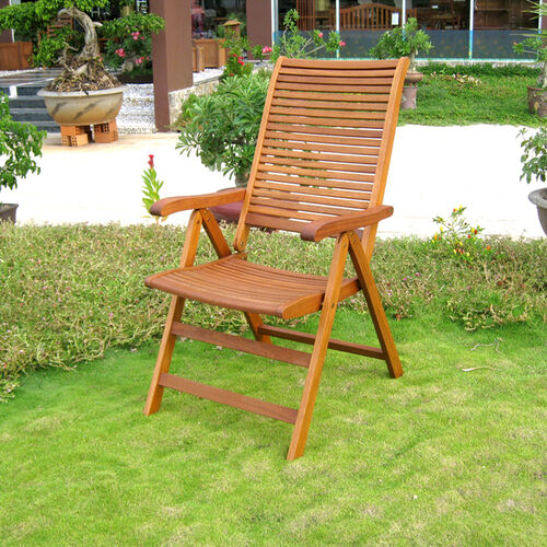 Set of 2 Royal Tahiti Freeport 5-Position Folding Wood Lawn Chairs