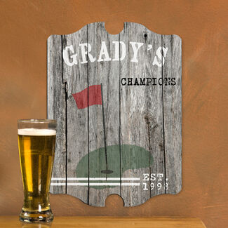 Personalized Vintage Sports Man Cave Pub and Tavern Signs - Golf
