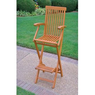 Royal Tahiti Outdoor Folding Chairs with Footrest - Set of 2