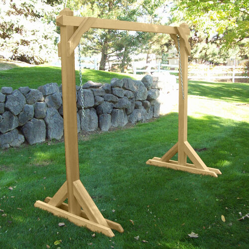 Basic frame porch swing stand at brookstone buy now for Building a swing stand