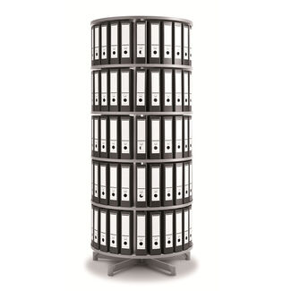 One Turn Rotary Binder and File Storage Carousel - 5 Tier