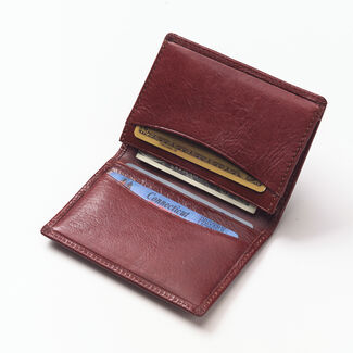 Clava Glazed Bi-Fold Business Card Wallet