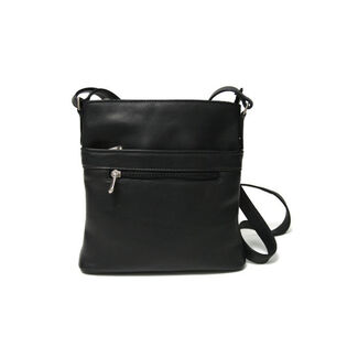 Royce Leather Vaquetta Triple Zip Crossbody Bag