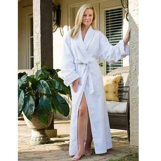 Diamond Jacquard Lined Bathrobe