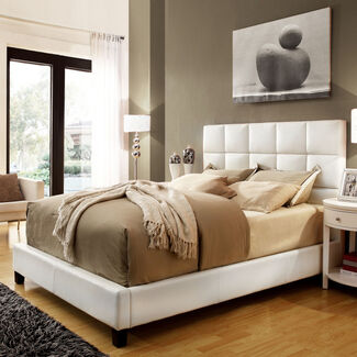 Home Creek Amara Faux Leather Upholstered Bed