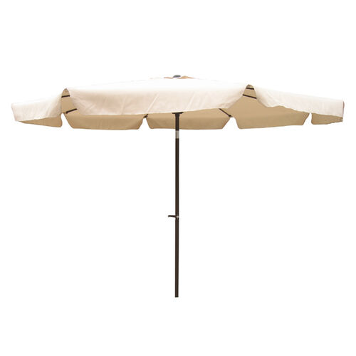 10' Aluminum Tilt and Crank Patio Umbrella with Flaps