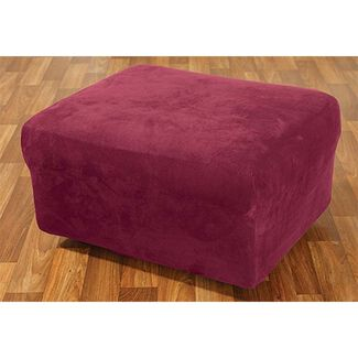Stretch Suede Ottoman Cover