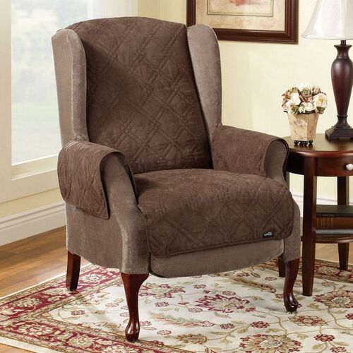 Sure Fit Soft Suede Wing Chair/Recliner Pet Throw
