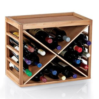 12-Bottle X Cube-Stack Wine Rack