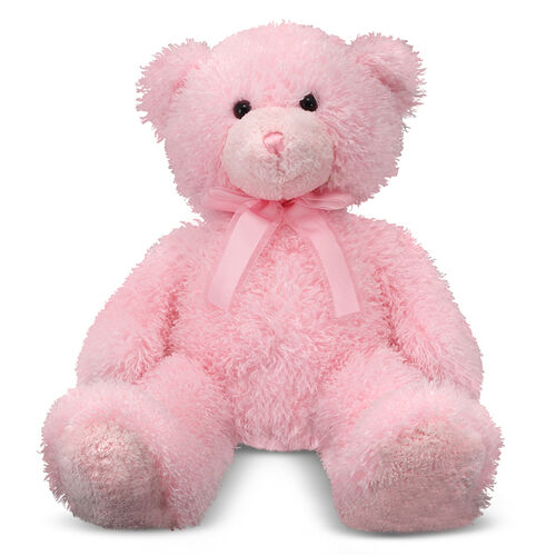 Melissa & Doug Cotton-Candy Pink Stuffed Teddy Bear Toy