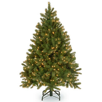 """Feel-Real"" Downswept Douglas Fir Hinged Tree with Lights"