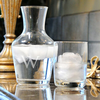 Personalized Bedside Water Carafe & Glass Set by Cathy's Concepts
