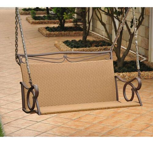 Valencia Steel-Frame Wicker Porch Swing