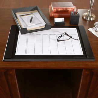 Personalized Royce Leather Desk Blotter