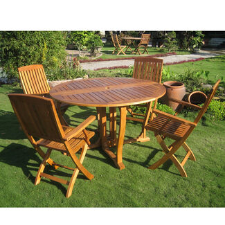 Royal Tahiti Marbella Round Outdoor Dining Set