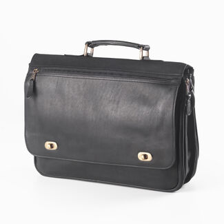 Clava Personalized Turn-Lock Briefcase