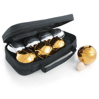 Gold and Silver Petanque Bocce Ball Set