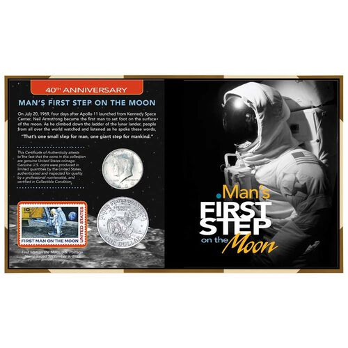 40th Anniversary Man's First Step on the Moon Coins