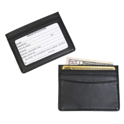 Royce Leather Mini ID and Credit Card Holder