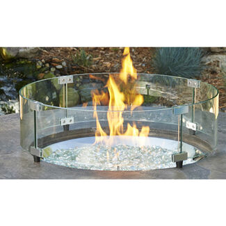 "Glass Guard for 20"" Round Crystal Fire Burner"