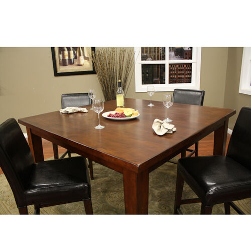 "Cameo 60"" Modern, Counter-Height Wooden Dining Table"