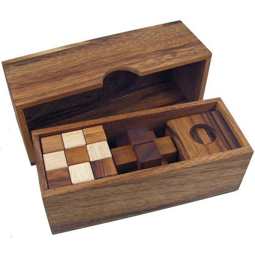 Wooden Puzzle Gift Set - 3 Puzzles