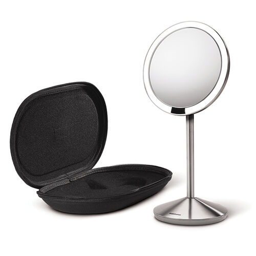 simple human 10x travel makeup mirror at brookstone buy now. Black Bedroom Furniture Sets. Home Design Ideas