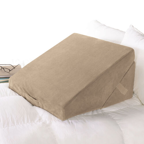 Bed wedge sit up pillows at brookstone buy now for Beds that sit up