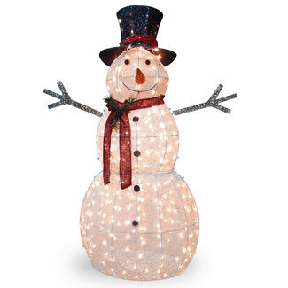 "60"" Snowman with Lights"